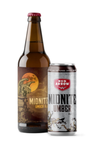 Red Arrow - Midnite Umber Ale Bomber and 473ml Tall Boy Can