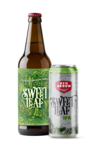 Red Arrow - Sweet Leaf IPA and 473ml Tall Boy Can