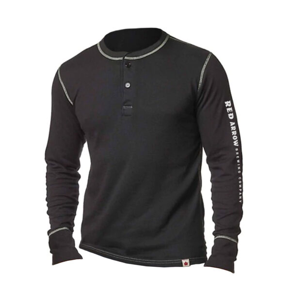Stainfield Henley Heritage Black Sleeve Logo