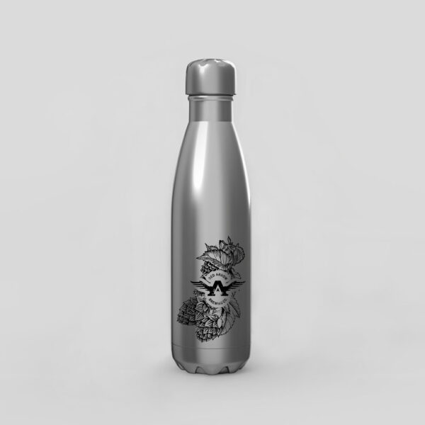 Branded Silver Water Bottle