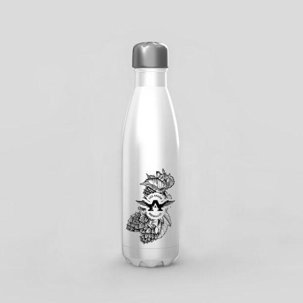 rBanded White Water Bottle