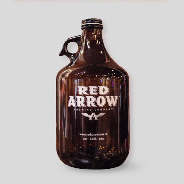 Red Arrow Glass Growler