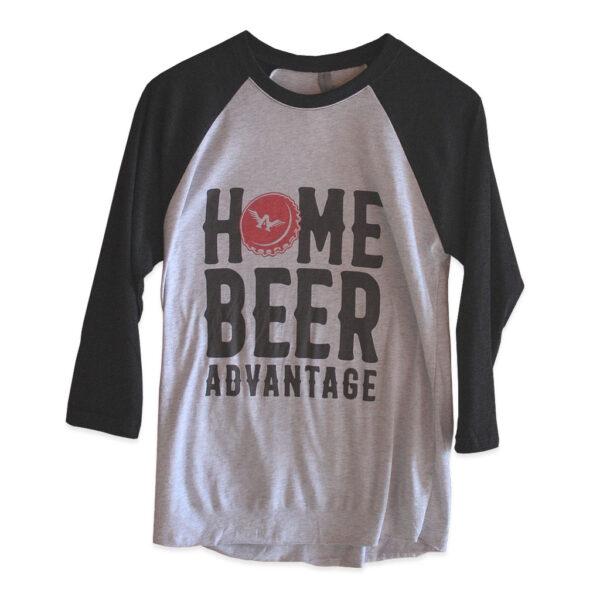 Baseball Tee Home Beer Advantage