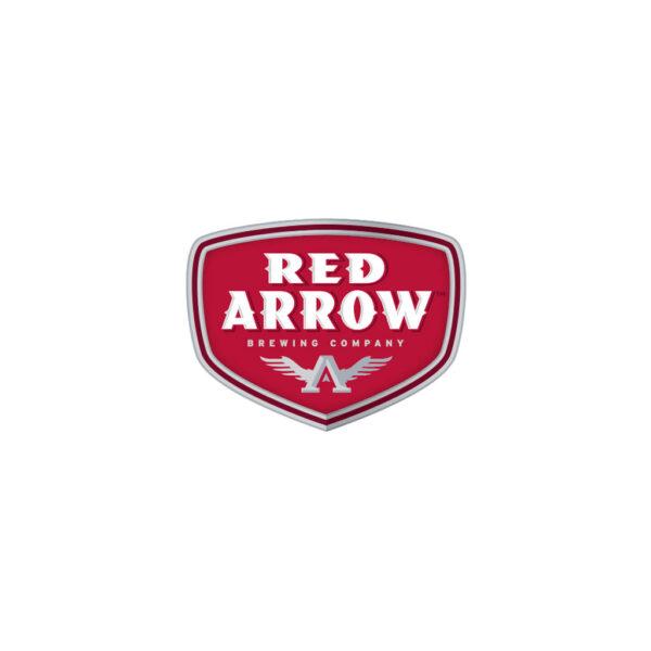 Red Arrow Shield Sticker 2.5in